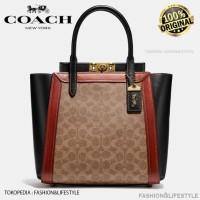 Coach Troupe Tote Bag In Signature Canvas - Tas Coach Original 100%