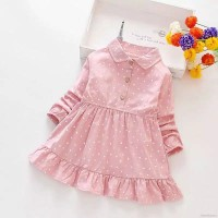 dress anak /dress casual anak import / dress kemeja lengan panjang