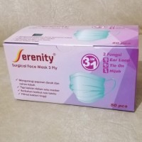 masker kesehatan 3 ply serenity 1 box 50 pcs