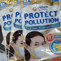 unicharm masker 3D Isi 2 per pack made in japan terbaik