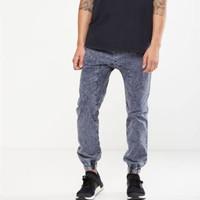 Cotton on Drake cuffed pant acid indigo celana jeans pria jogger