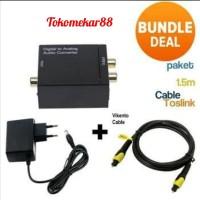 Paket digital to Analog audio converter coaxial + kabel Toslink 1.5 M