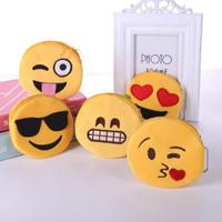 pouch emoticon tempat koin emoji termurah COD kain terbagus