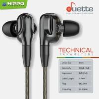 Hippo Miooz Duette Dual Dynamic Earphone 4 Power Drivers Bass