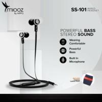 Hippo Miooz SS101 Earphone Powerfull Bass Stereo Sound Garansi Resmi