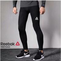 Celana Legging Baselayer Panjang Reebok Manset Training Gym Sport