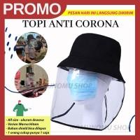 Topi Anti Corona FREE Masker Kain | mencegah virus bakteri droplet