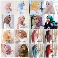 Bella Square hijab segiempat Double Hycount Polycotton, jilbab