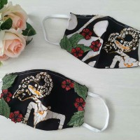 Masker Batik Hias Bordir Fashion non medis isi 3 pc