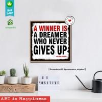 Hiasan dinding Walldecor pajangan dinding poster kayu quotes H1