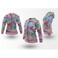 Hoodie Jaket Wanita Bunga Floral PATTERN SEAMLESS Style02 Fullprint