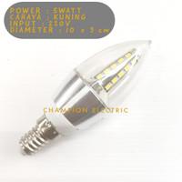 lampu LED Candle 5W Lilin Gantung 5 Watt Fitting E14 Kuning Warmwhite