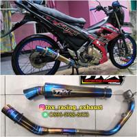 Knalpot Racing Satria Fu Full Bluemoon TNX Racing Not Kou Cha Rcb Wrx