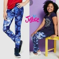 justice legging/legging anak perempuan navy abstrak/legging anak - 14-16thn