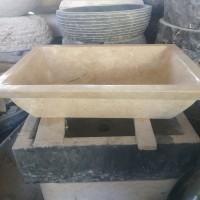 wastafel batu alam marmer kotak persegi panjang
