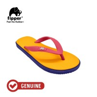 Fipper Kids / Sandal Jepit Anak / Mustard - Navy - Red Ruby
