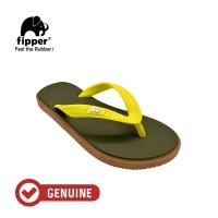 Fipper Kids / Sandal Jepit Anak / Green Army - Brown - Yellow