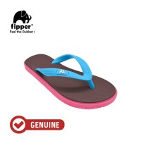 Fipper Kids / Sandal Jepit Anak / Brown Havana - Pink Punch - Blue Sky