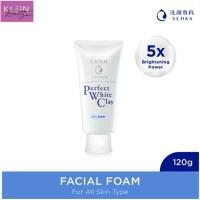 SENKA Perfect White Clay Facial Foam 120g Japan (Angkat Komedo-Cerah)