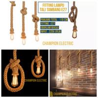 Kabel Fitting Lampu Gantung Tali Tambang E27