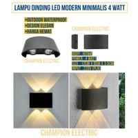 LAMPU DINDING LED OUTDOOR MINIMALIS WATERPROOF 2 ARAH 4W 4WATT 4 W