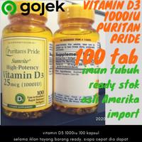 ORI Puritan Pride Vitamin D3 1000 iu D 3 1000iu 100 Softgel Puritans