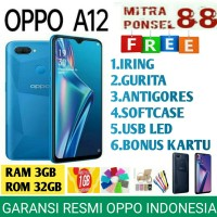 OPPO A12 RAM 3/32 GB GARANSI RESMI OPPO INDONESIA 1 TAHUN