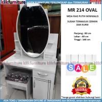 PROMO Meja Rias Cermin Minimalis Putih Oval MR 214