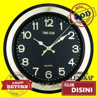 Jam Dinding Time Star HS 2112 DW Bulat Polos Diameter 25cm Best Seller