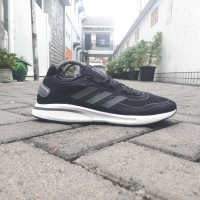 Sepatu Sneakers Pria Adidas Supernova Boost Black White Original