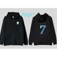 sweater hoodie zipper wanita BTS map of the soul - jaket perempuan