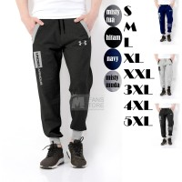 celana jogger panjang big size S M L XL XXL 3XL 4XL 5XL - S