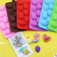 Cetakan cokelat silicone cetakan candy puding bentuk buah pisang cake