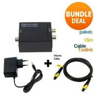 [Universal] CONVERTER AUDIO DIGITAL TO ANALOG (OPTICAL/COAXIAL TO RCA - Toslink Tebel