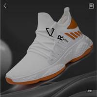 Sneakers Sepatu Pria Navara Esteemist Dim Black -Sneaker Pria SlipOn - Putih, 39