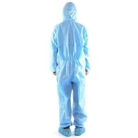 Tnid Universal Disposable Isolation Gown Zipper Elastic Coverall