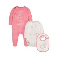 Floral Mummy and Daddy 3-Piece Set