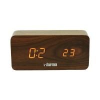 INFORMA JAM MEJA DIGITAL KAYU-DIGITAL WOOD ALARM TABLE CLOCK 712 BROWN