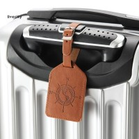 Livecity Faux Leather Solid Color Luggage Tag Travel Suitcase ID