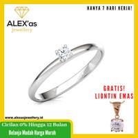 cincin berlian helena solit ring natural diamond emas 18k 7 hari Fvvs