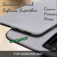 softcase Samsung m31 case anti slip soft case sandstone m31