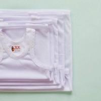 Promo !!!!! 1 Lusin Kaos Dalam Singlet Bayi Murah Warna Putih