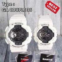 G Shock COUPLE Love Putih White Jam tangan couple pasangan digital