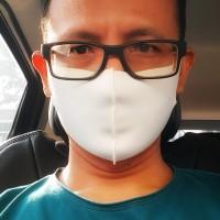 Masker kain scuba murah warna putih