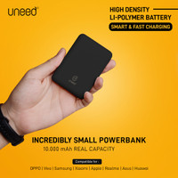 UNEED CompactBox 10 Powerbank 10000mAH High Density Polymer - UPB401