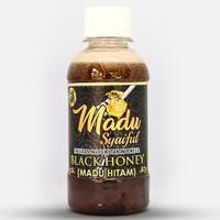 MADU HITAM 1/4 KG| 100% ASLI + HALAL MUI | LEBAH HUTAN |MADU SYAIFUL