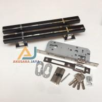 1 Pasang Pull Handle + Body Kunci | Black Stela
