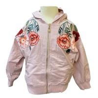 MOEJOE Floral Embroidery Bomber Jacket