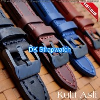 Tali kulit asli Jam Tangan Seiko strap leather watch Band.
