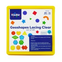 Geoshapes Lacing Clear set of 60